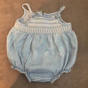 Baby gap chambray romper